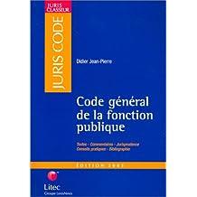 CODE GENERAL DE LA FONCTION PUBLIQUE 2003