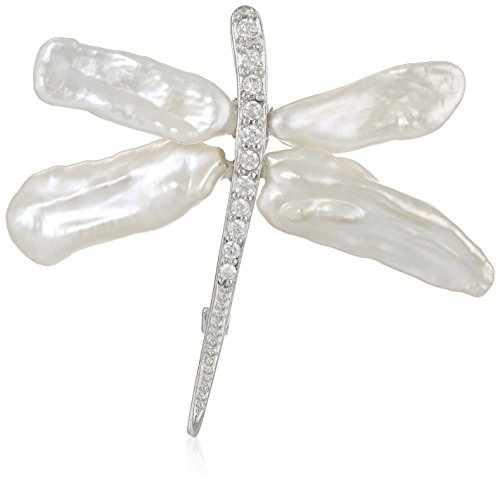Bella Pearl Keshi Pearl Dragonfly Brooches and Pins