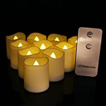 12pcs Flameless Candles Warm White Flickering LED Tealights With Timer, 6 Hours On and 18 Hours Off in 24 Hour Cycle, Battery Candles Operated for Wedding, Birthday, Party Decorations