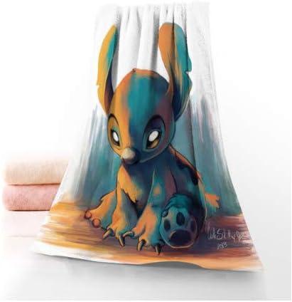 chinawh Nuevo Anime y Stitch Toalla de ba/ño Toalla Textil para el hogar Viaje Toalla de Mano Toalla de Microfibra Toallas de ba/ño para Adultos 70x140cm