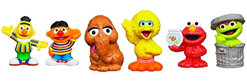 (Sesame Street Friends Figure Set with Bert, Ernie, Big Bird, Snuffleupagus, Elmo & Oscar )