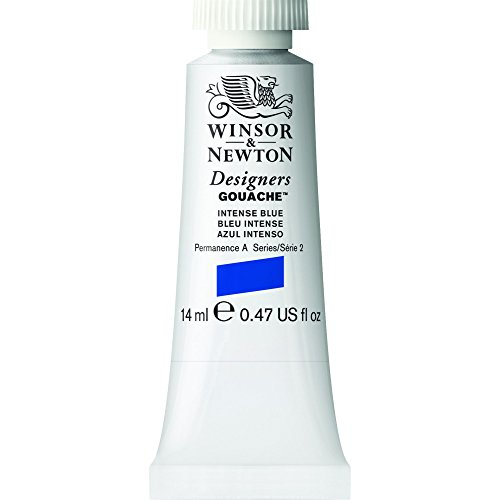 Winsor & Newton Designers Gouache Tube, 14ml, Intense Blue