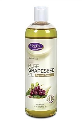 Life-Flo Organic Pure Grapeseed Oil, 16 Ounce