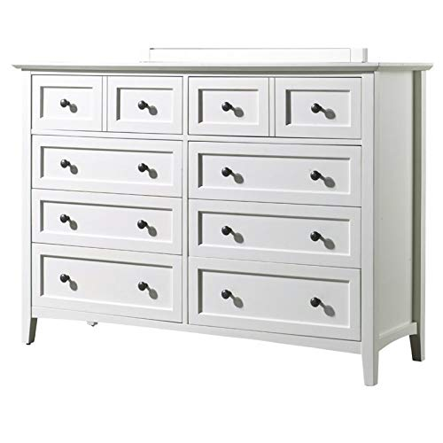 Modus Furniture 4NA482 Paragon Eight-Drawer Dresser, White ()