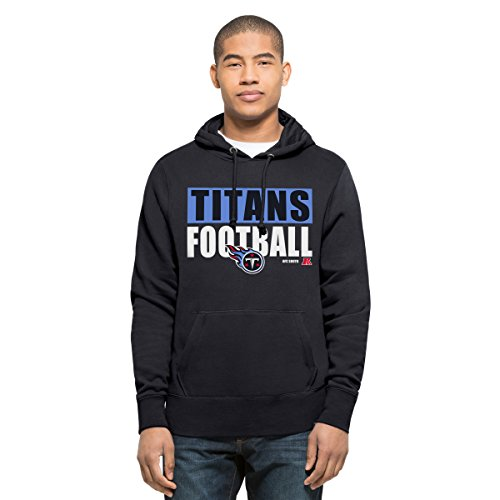 NFL Tennessee Titans Men's '47 Headline Pullover Hoodie, Large, Fall Navy (Tennessee Mens Hoodie)