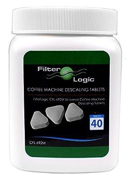 40pk FilterLogic cfl-692 m universales de máquina de café/espresso descalcificador pastillas antical