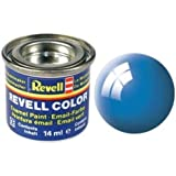 Revell 32150 RAL 5012 - Bote de pintura (14 ml), color azul claro brillante