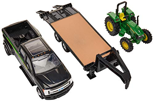 ERTL Ford Pickup with Gooseneck Trailer & John Deere Tractor ()