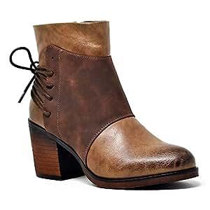 Amazon.com: Mata Shoes Women's Two Tone Oil Brushed Winter