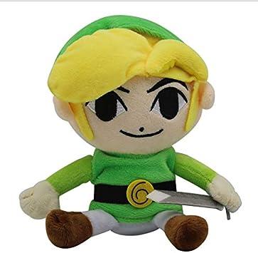 Amazon.es: Peluche Legend of Zelda Juego de Dibujos Animados Alrededor del Cielo Espada de la Ciudad Linke muñeco de Peluche 26cm: Juguetes y juegos