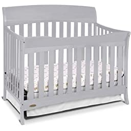Best Seller Convertible Furniture Cribs for Baby, Graco Lennon 4-in-1 Convertible Crib, Pebble Gray