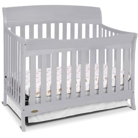 Best Seller Convertible Furniture Cribs for Baby, Graco Lennon 4-in-1 Convertible Crib, Pebble Gray by Graco (Image #4)
