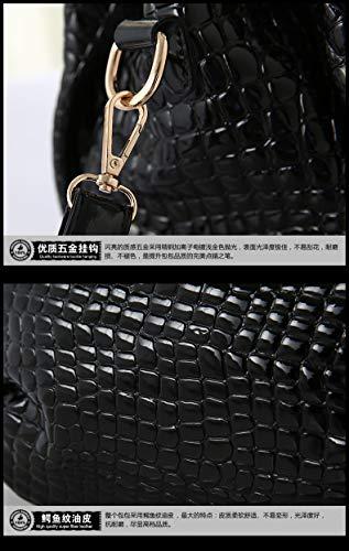 à Totes portefeuille bandoulière Borse Lady capacité Beige Sac Femmes à main à Sacs sac main Crocodile grande 0qdwH