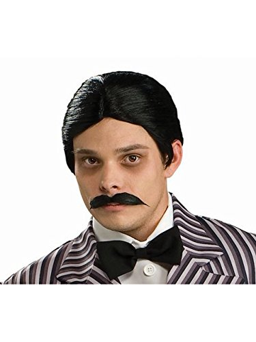 Rubie's Men's The Addams Family Gomez Wig and Mustache Kit, One Size]()
