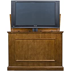 "Touchstone Home Elevate Television Lift Cabinet – Warm Honey Oak Finish – For 50"" Flat Screen TVs (diagonal measurement)"