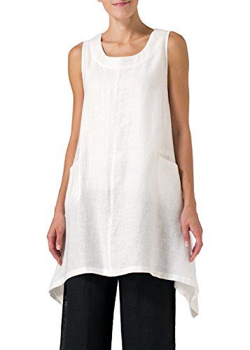 Vivid Linen High-Low Extra Long Tunic