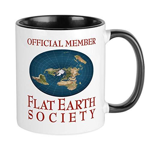 CafePress Flat Earth Society Mugs Unique Coffee Mug, Coffee Cup