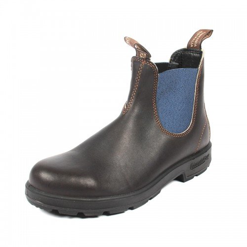 Blundstone Unisex 578 Stout Brown/Pale Blue Boot