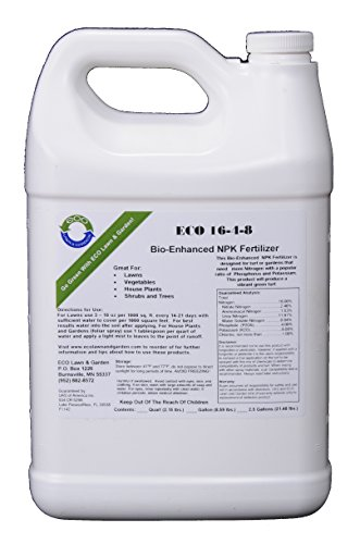 Natural Liquid Fertilizer 16-4-8 NPK Gallon - Liquid Nitrogen Fertilizer