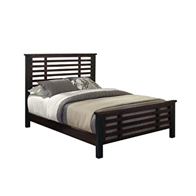 Cabin Creek Chestnut King Bed by Home Styles - Conveys a reclaimed wood vintage feel Multi-step chestnut finish Slat-style design - bedroom-furniture, bed-frames, bedroom - 41HNTvD2TIL. SS400  -