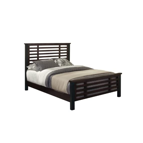 Cabin Creek Chestnut King Bed by Home Styles - Conveys a reclaimed wood vintage feel Multi-step chestnut finish Slat-style design - bedroom-furniture, bedroom, bed-frames - 41HNTvD2TIL. SS570  -