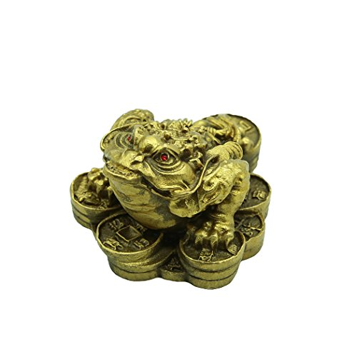 Brass Money Frog/Toad Sculptures Bring Wealth Home Decor Gift Collectible