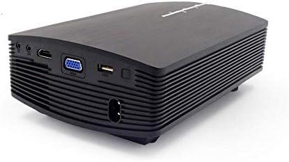 プロジェクタ LCDプロジェクターポータブルホームシアタープロジェクター1200個のルーメン800×480ピクセル:1000 1つのコントラストLEDについては、家庭やオフィス ーカー ホームシアター 天井投影 (Color : Black, Size : One size)