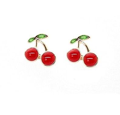 Gas Axe Inc Cherry Crystal Earrings deJPVU