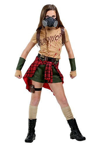 Chewbacca Girl Costumes (Girls Zombie Survivor Costume Large)