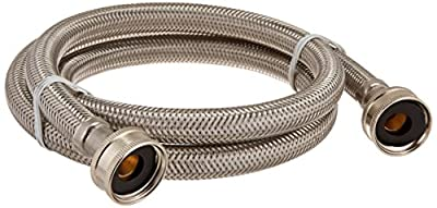 """Certified Appliance WM48SS Braided Washing Machine Connector, Stainless Steel (3/4""""FGH X 3/4""""FGH, 4 Ft)"""