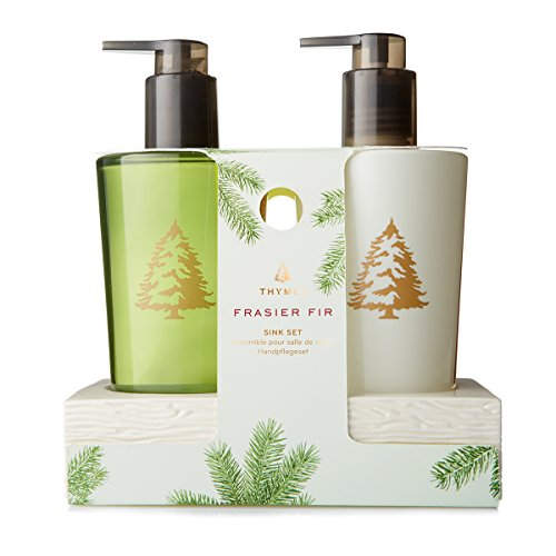 Thymes Frasier Fir - Heritage Home Care Sink Set with Ceramic Caddy