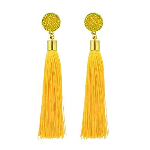 (Womens Long Tassel Dangle Earrings for Girls Fringe Drop Earrings Elegant)