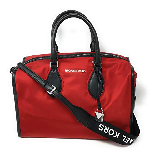 - Michael Kor Unisex Connie Nylon Lg Duffle Bag Chili Red