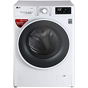 LG 8 kg Inverter Fully-Automatic Front Loading Washing Machine (FHT1208SWW, White, Inbuilt Heater)