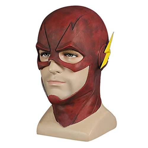 The Flash Mask (TFYST Flash Mask Adult Halloween Rubber Latex Party Mask Head Costume Full Face Helmet)