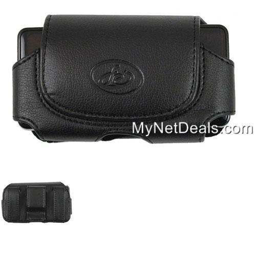 Leather Case Pouch (with Belt Clip) for Motorola Razr V3/ V3a/ V3c/ V3e/ V3i/ V3r/ V3m/ V3xx/ V8/ V9/ V9M - Horizontal Black