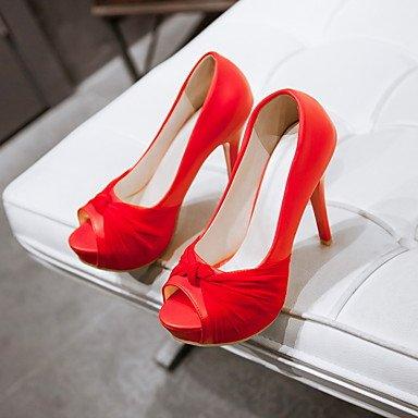 Le donne sexy elegante sandali donna tacchi Primavera Estate Autunno scarpe Club PU Office & Carriera Party & abito da sera Stiletto Heel Rosa Blu Beige rosso , rosso , us7.5 / EU38 / uk5.5 / CN38