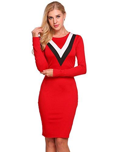 Drape Neck Sheath Dress - 9