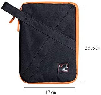 LiYao Travel Digital Bag,Oxford Cable Data Lines Bags,Portable Packing Organizers for USB Cables Earphone Electronic,Tavel Organizer Color : Red L