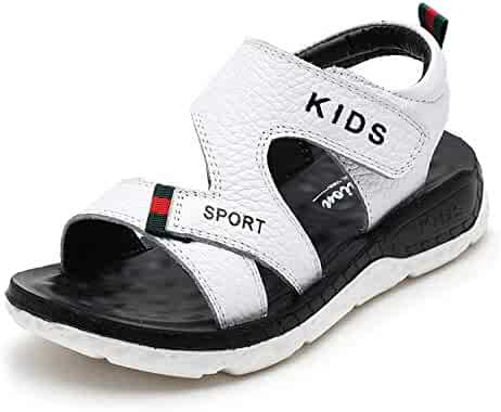 976f0a53b587e Boys Beach Genuine Leather Sandals Kids Summer Shoes Children Non Slip  Sport Shoes