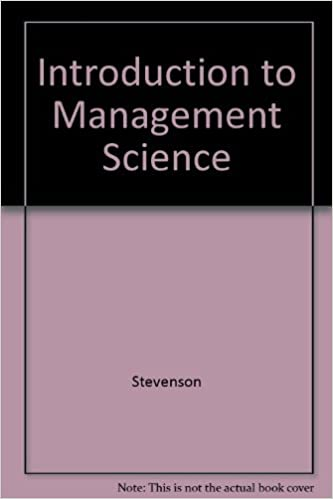Introduction to management science william j stevenson introduction to management science william j stevenson 9780073661100 amazon books fandeluxe Image collections
