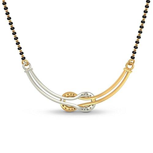 Or jaune 18K 0,14CT TW White-diamond (IJ | SI) Mangalsutra