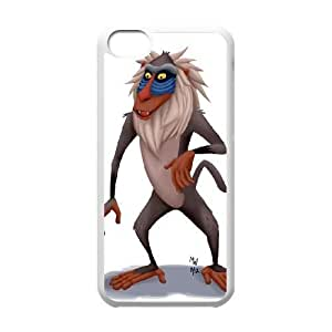 Disney The Lion King Character Rafiki iPhone 5c Cell Phone Case White PQN6053055305303