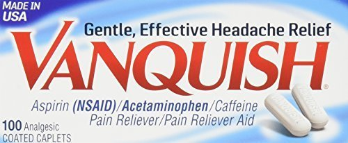 Vanquish Extra Strength Pain Reliever Caplets-100 ct. (Pack of 3) by Vanquish