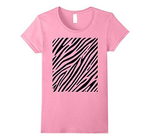 Womens Zebra Print - Simple Easy Halloween Costume Idea - Tee Shirt Medium Pink (Easy Simple Halloween Costumes Ideas)