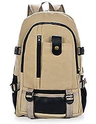 MiCoolker(TM) Vintage Men Casual Canvas Backpack Rucksack Bookbag Hiking Bag