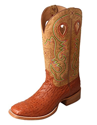 Brandy Ostrich (Twisted X Men'S Ruff Stock Boot, Color: Brandy Ostrich Neck/Arena, Size: 9, Widt)