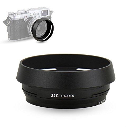 Lens Hood Set JJC for Fuji Fujifilm X100F X100S X100T X100 X70 Replaces Fujifilm LH-X100 Lens Hood & Adapter Ring Aluminum alloy-Black 1 pack
