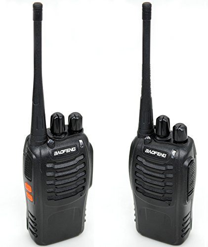 BaoFeng BF 888S Two Way Radio with Built in LED Flashlight (Pack of 6) +Covert Air Acoustic Tube Headset Earpiece