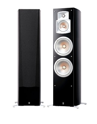 Yamaha NS rek luidsprekersysteem in paar, zwart Staande luidspreker zwart